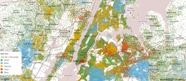 NYC Racial Map from 20005-9 census