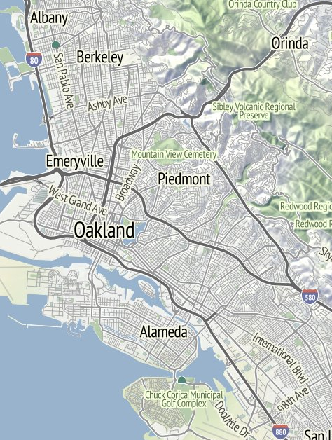 OAK Topographical