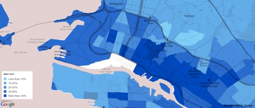 Oakland Foreign Born Map