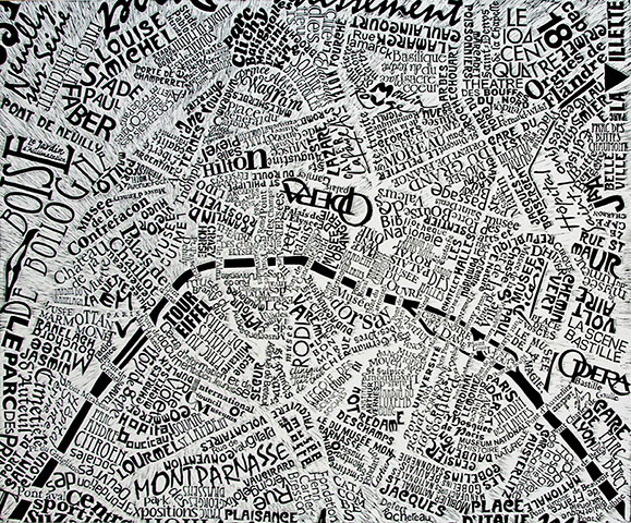 Paris map by Mark Webber
