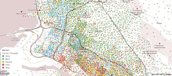 Race in Oakland Google Mapped