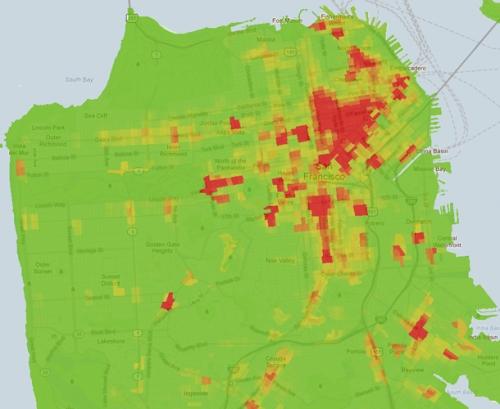 SF Crime Density