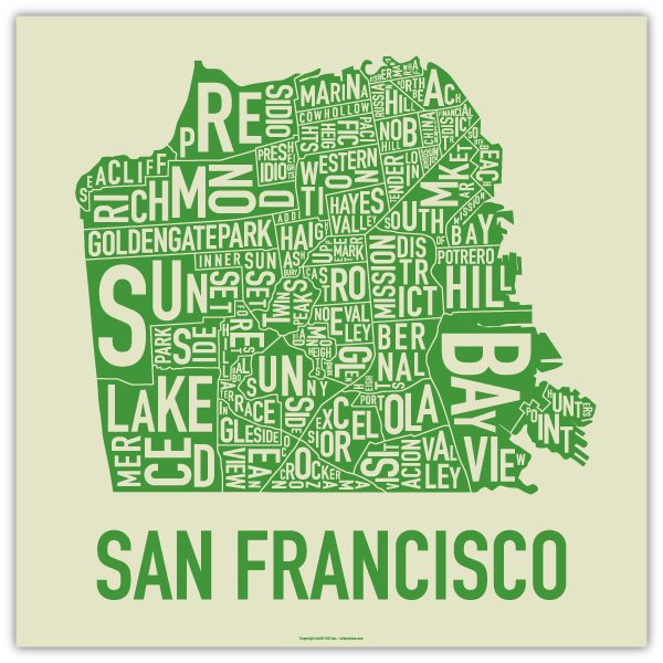 SF Word Map GREEN