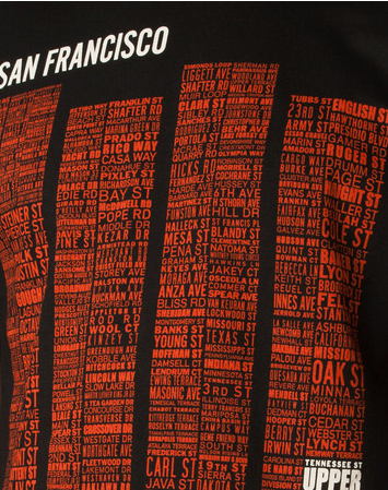 Upper Playground Tees SF name map