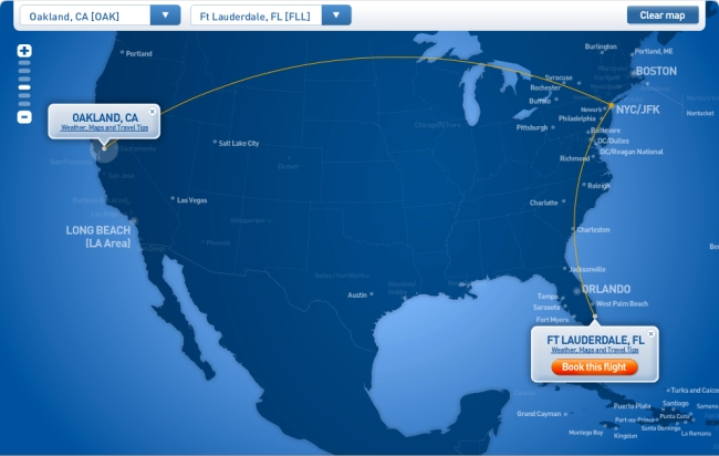 website flight route