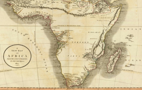 Africa Map 1805 %22From The Latest Authorities%22
