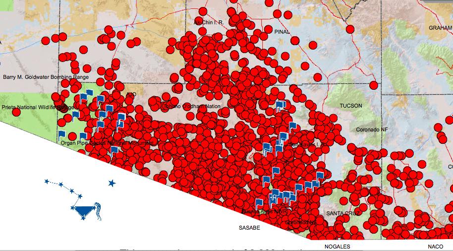 GIS Mapping of Individual Deaths on Arizona Border