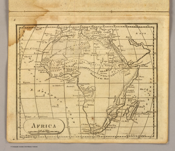 Lincoln & Edmonds 1819 Africa Map