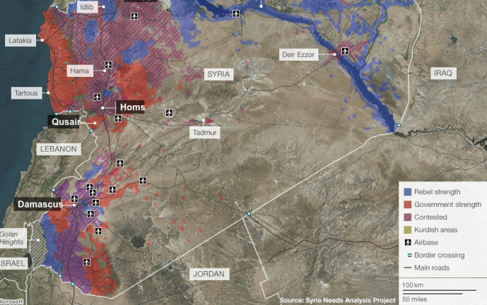 Mapping Syrian Conflict BBC