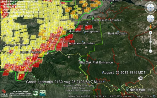 Rim-Fire-Modis-Fire-Ignitions-1915-MDT-Aug-23-2013-Southeast-(Yosemite)