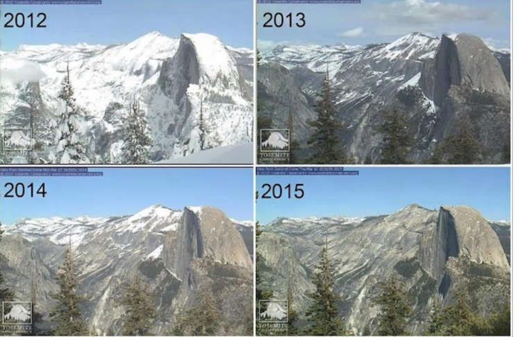 Yosemite Conservancy--Half Dome's Snow Pack