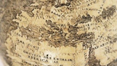 Arabia and Africa EGGSHELL GLOBE