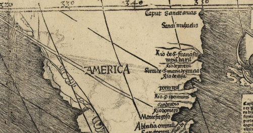 Detail of MW's World Map, courtesy Library of Congress