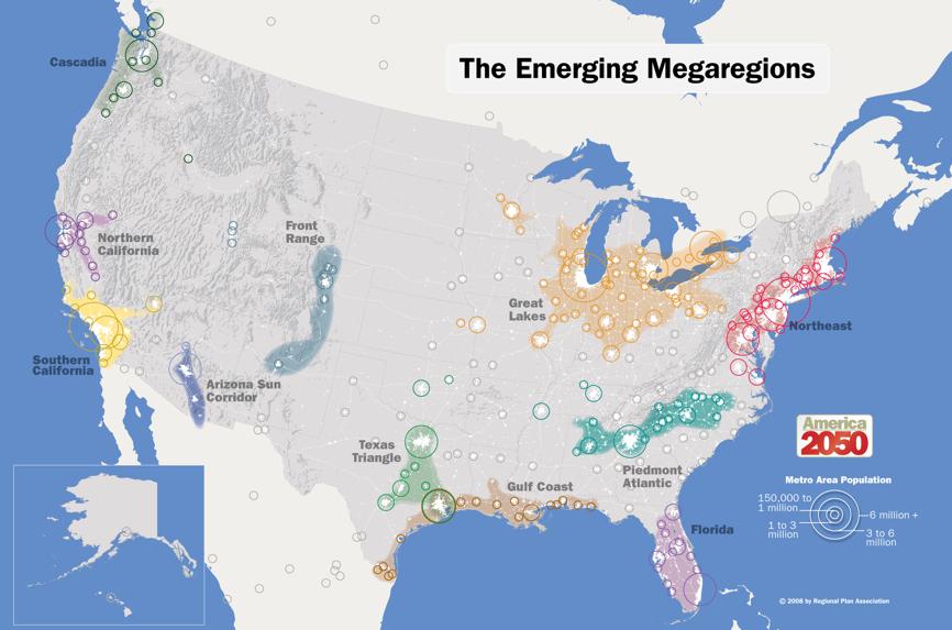 Emerging Megaregions