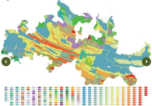 geology, geomorphology, slope inclination of DOC Douro