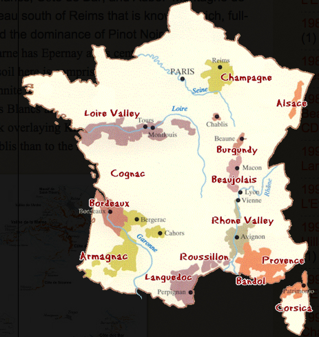 terroirs in France from CHampagne