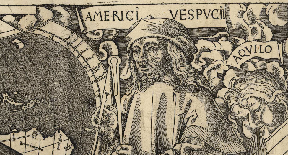 Vespucci as world-weary robed cosmographer
