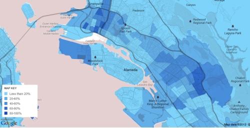 2005-2009 % Afr Am Oakland