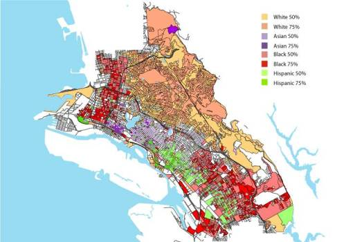 Mapping Oaklands Populationsways To Imagine The Future - Us census dot map