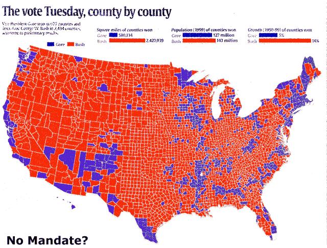 County by County Bush v. Gore