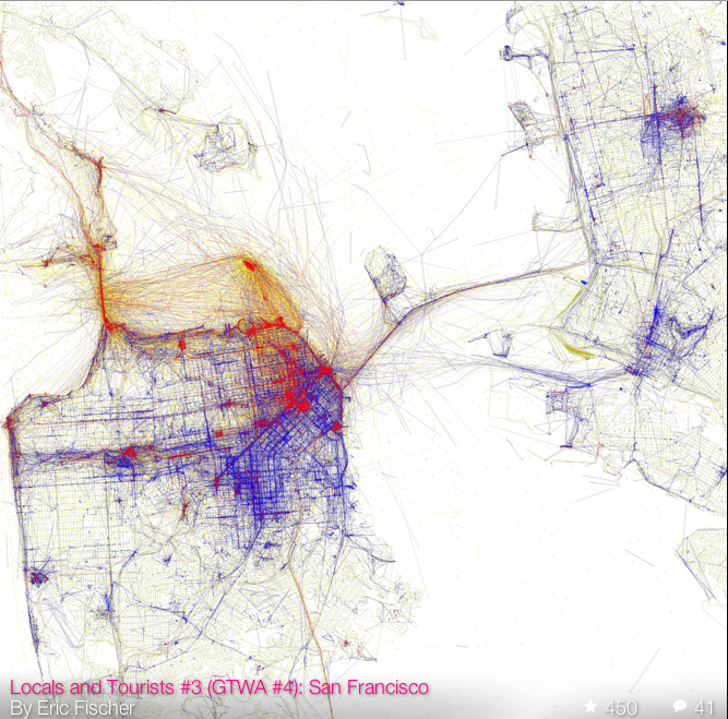 Eric Fischer- Locals v non-Locals in SF:Oak