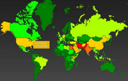 Global Heat Map--NSA coverage
