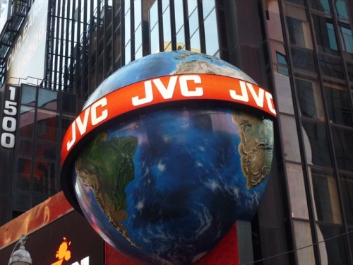 JVC GLOBE IN TImes Square NYC