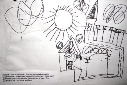 kid's map of house