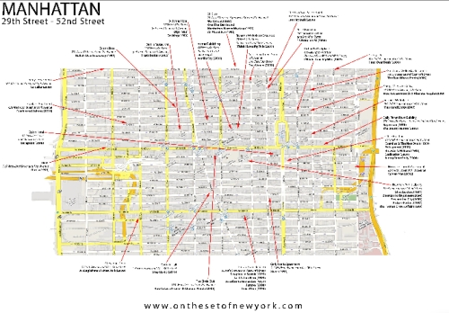 Map of Film Sites in NYC