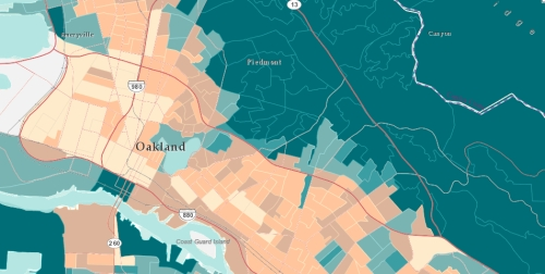 Median household Income East Bay-Oakland in it