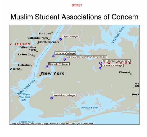 Muslim Student Associations Mapped NYC