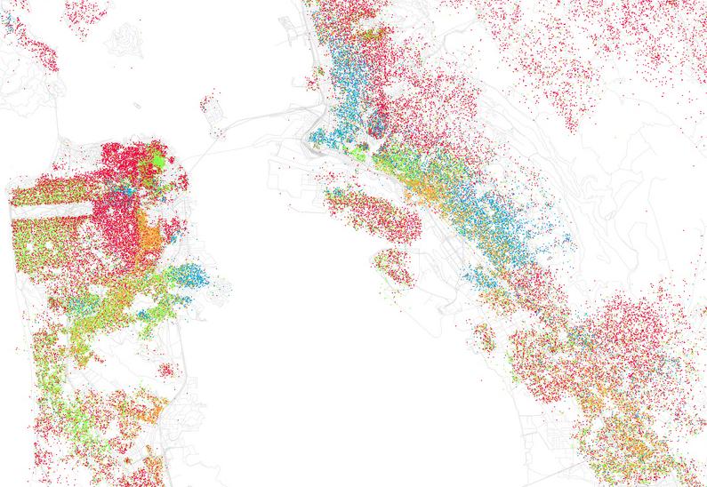 Racial Map Sf 25 Dot Eric Fischer