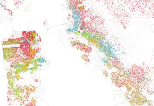 Racial Map SF--25:dot Eric Fischer