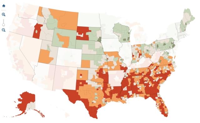 % Uninsured in States Saying No