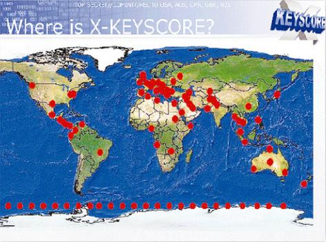 WHere is X Keyscore?