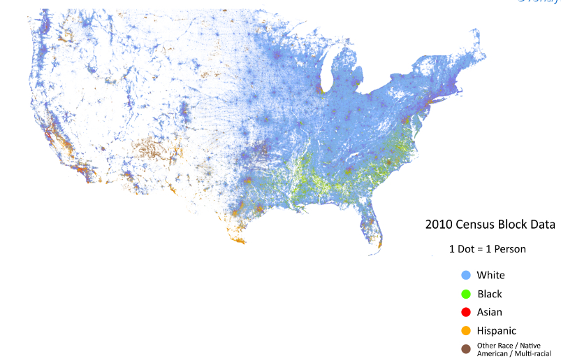 Cable Census Block Dot Map
