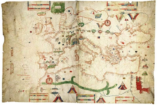 Genoese nautical chart of Albino de Canepa