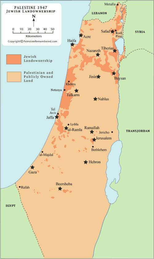 JewishOwnedLandInPalestineAsOf1947