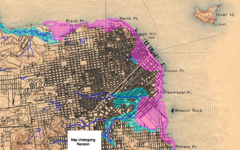 Lost Land SF Historical Creeks and Shore marina