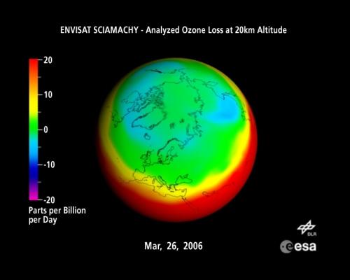 Ozone Loss Map