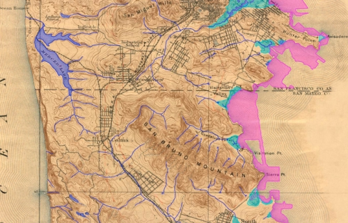 SF Built Out:Loss from 1895 Topo