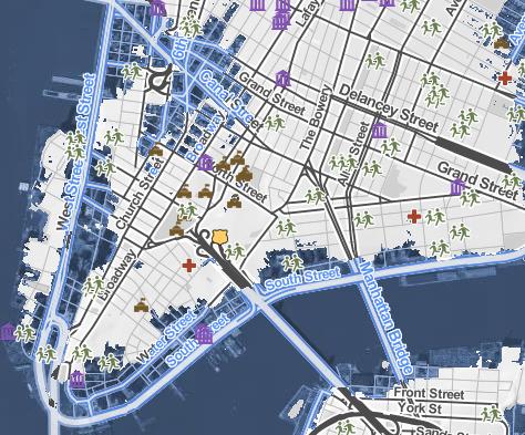 Surging Seas--NYC, 10 Feet
