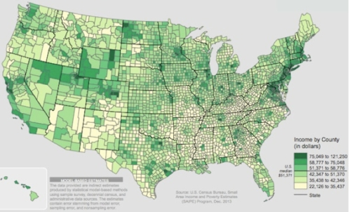 Income by County:2012