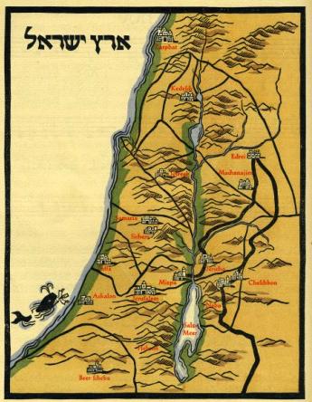 Kredel Haggadah Map