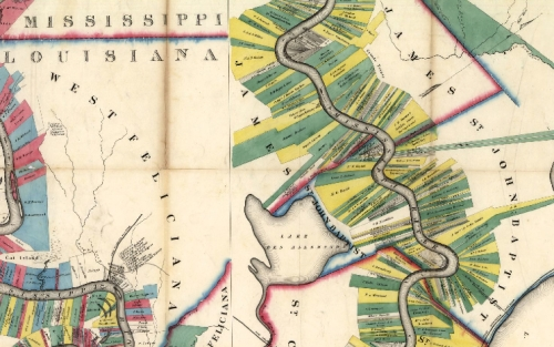 Mississippi-Louisiana map