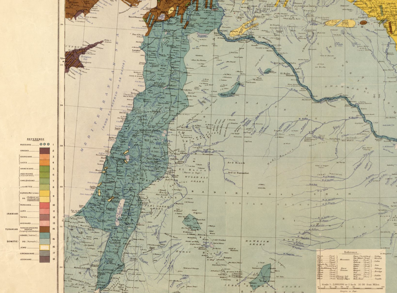 Palestine's Ethnography in 1910 pre-WWI
