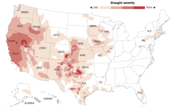 Drought Severity--California