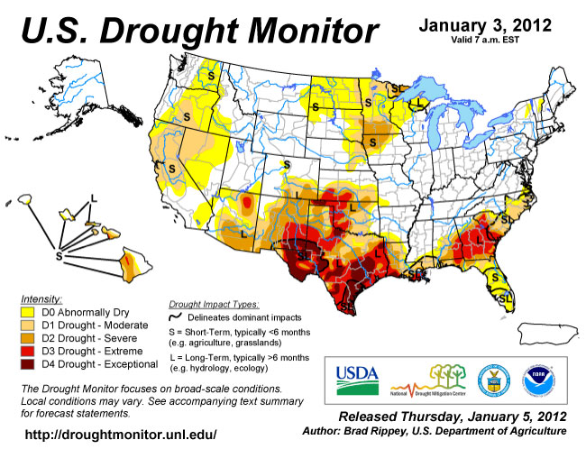 California Drought Musings On Maps - Us department of agriculture california drought map history