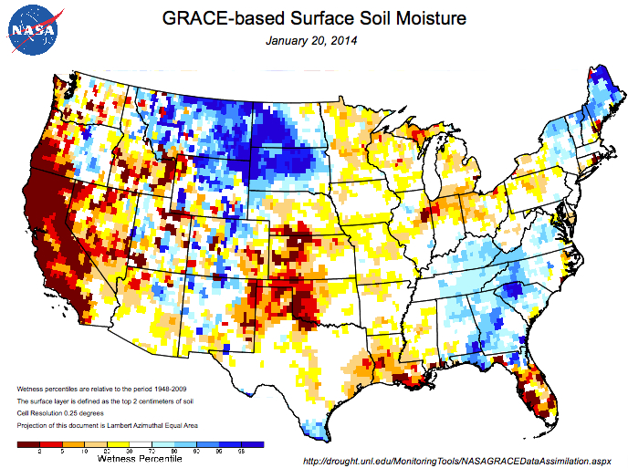 Soil Moisture on Surface