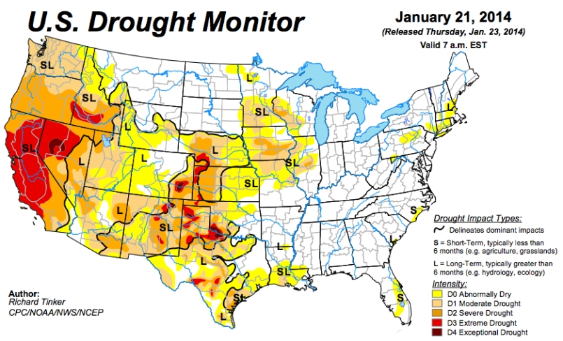 US Drought Monitor Jan 21